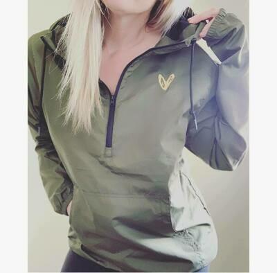 Army Green Heart Windbreaker