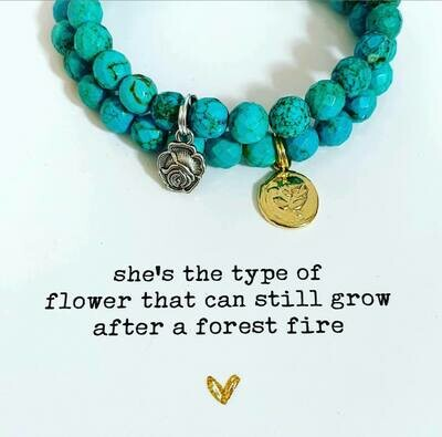 she's the type of flower...