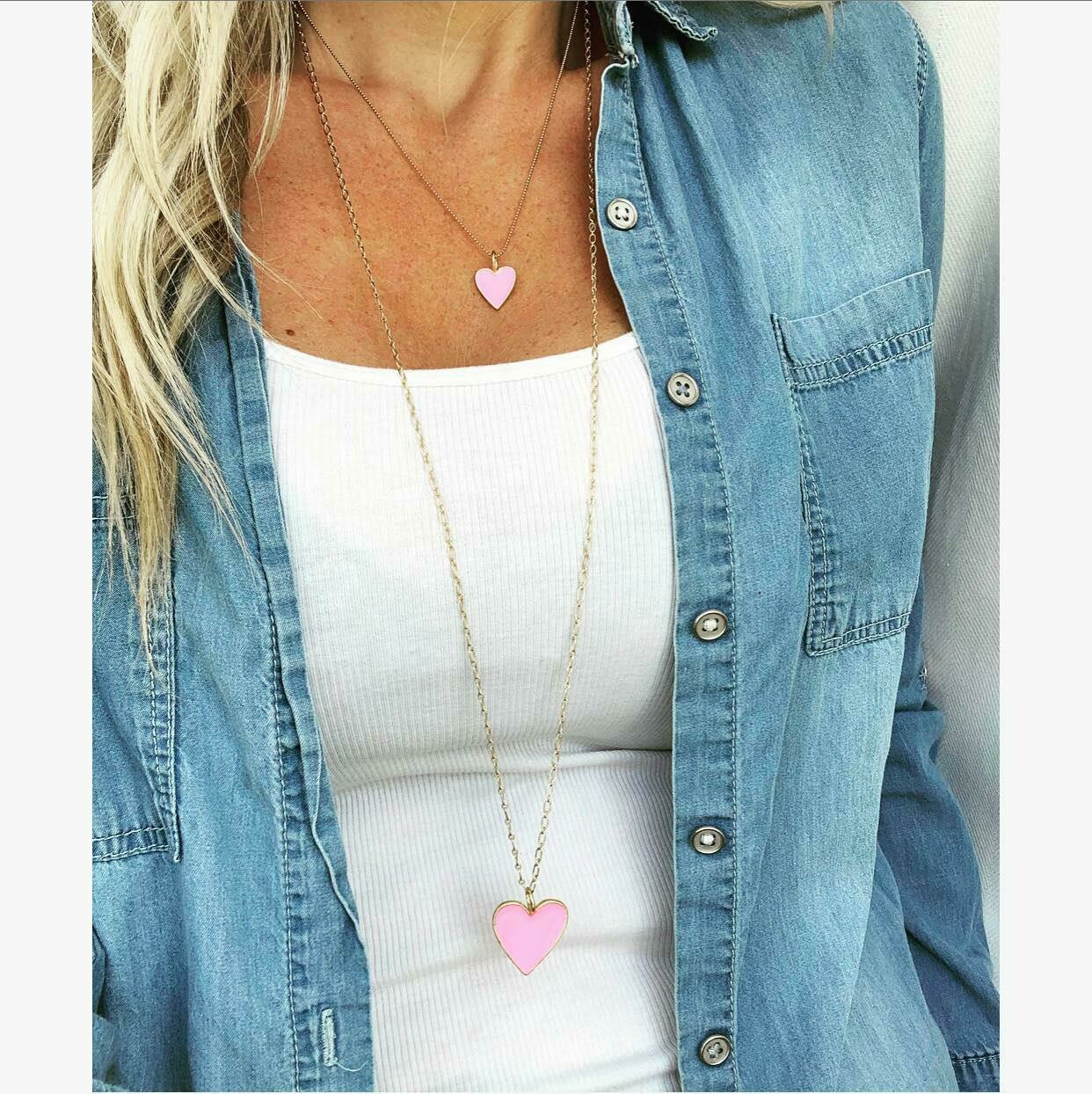 the 'show up & love' necklace - long