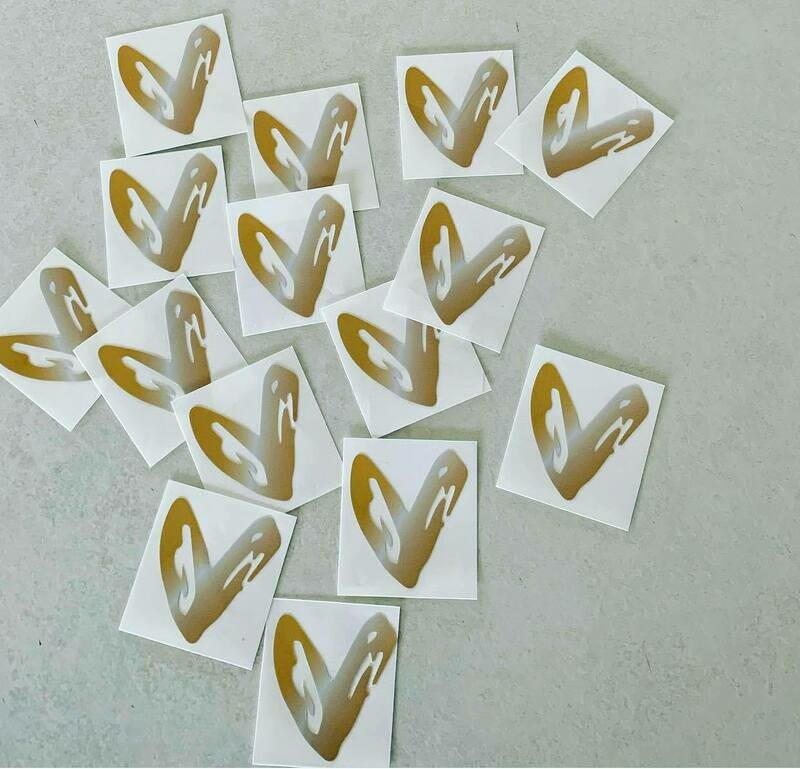 Heart sticker Fundraiser