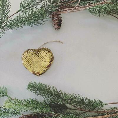Gold Heart ornament