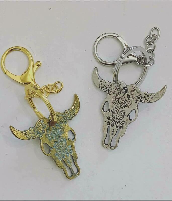 Long Horn key chain
