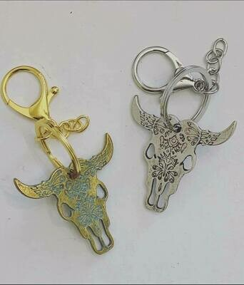 Long Horn key chain