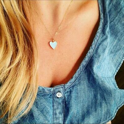 stay colorful heart necklace