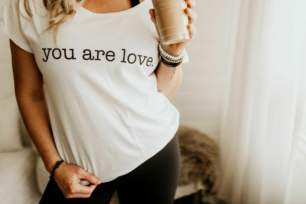 you are love white tee