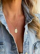 70s style drop necklace
