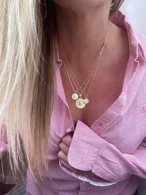 Valentina, Cassia and Vita Coin necklaces