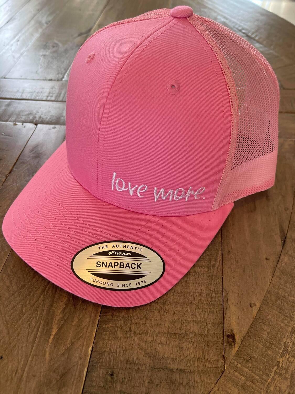 love more. pink ball cap