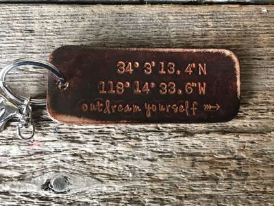 Latitude Longitude Key Chain