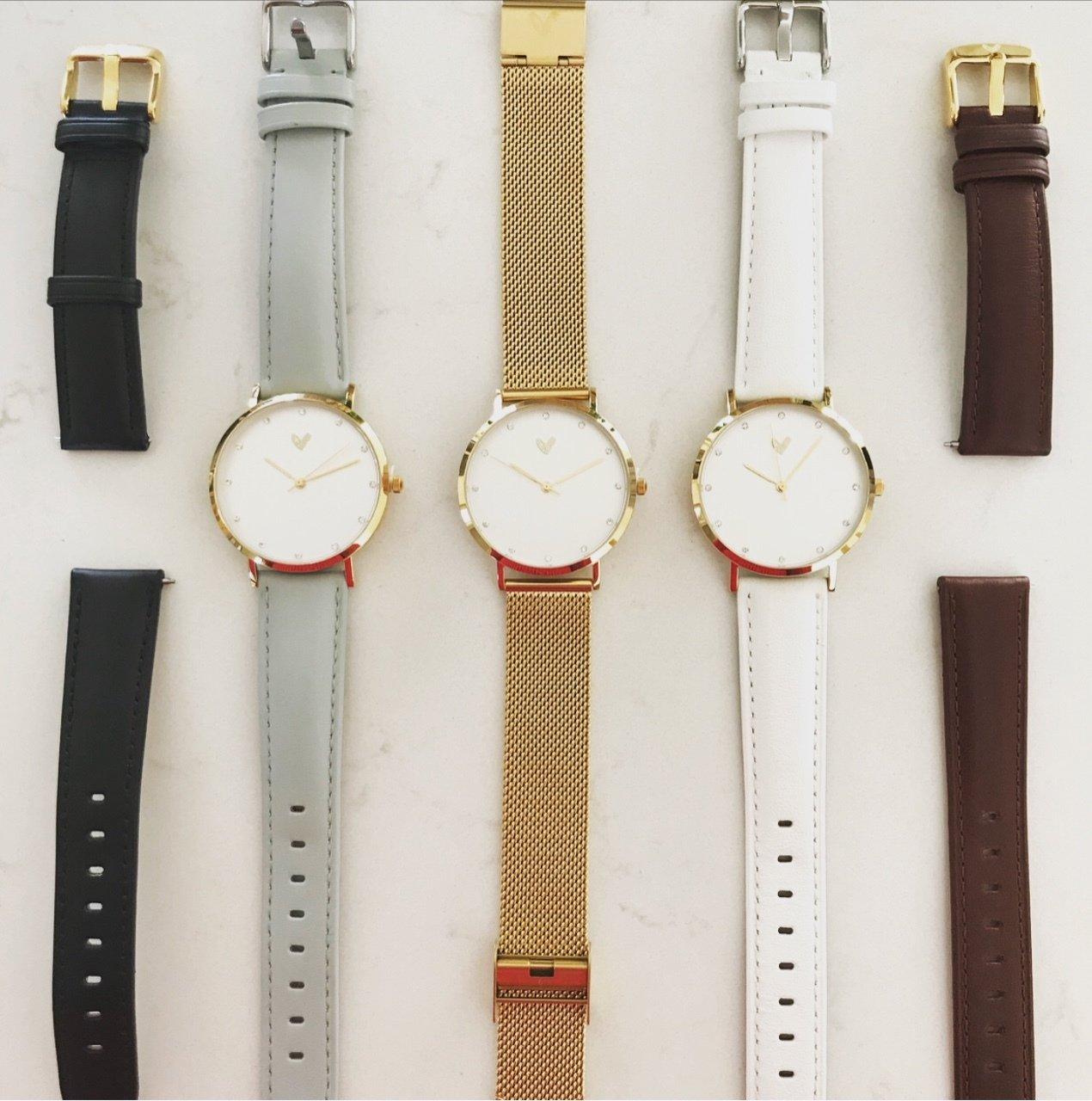 Interchangeable watch straps