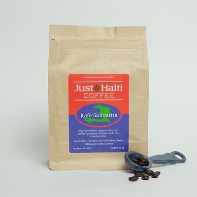 Whole bean, Haitian medium roast, 12 oz.