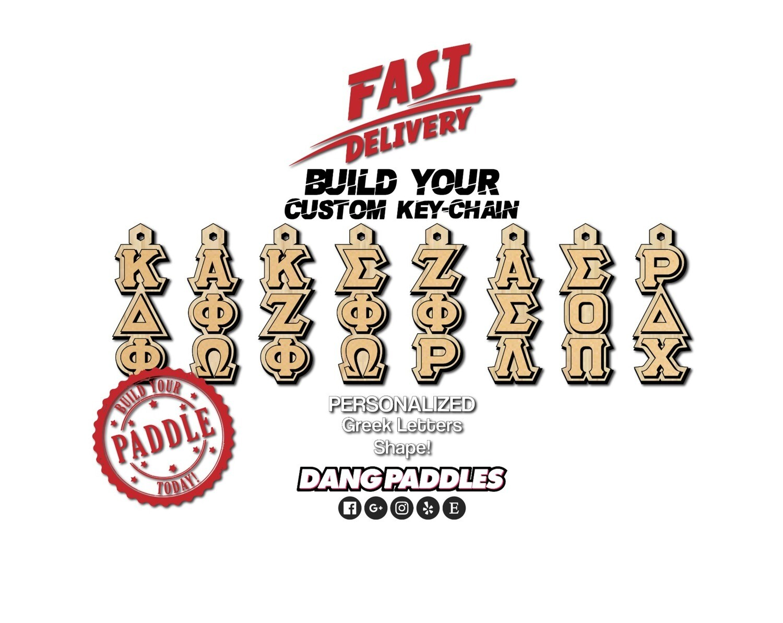Greek Letter Shaped Key Chain Tiki