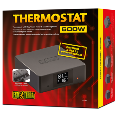 Thermostat 600W with Dual Receptacles
