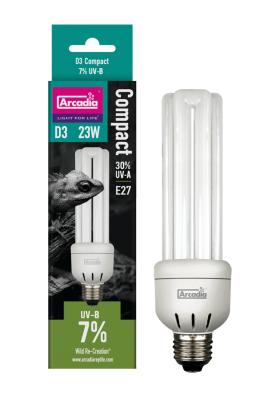 Arcadia D3+ UVB Compact 7% UVB bulb 23w