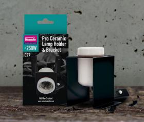 Arcadia Pro Ceramic Lamp holder and bracket
