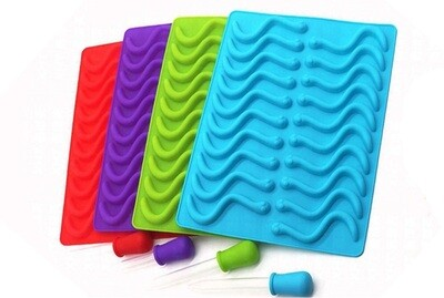 """""""Gummy Worm"""" Mold for Repashy  - 3 Pc Set"""