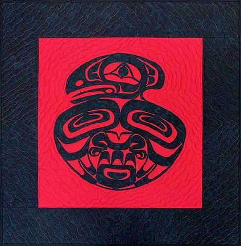 RAVEN MEDALLION WALLHANGING, B&R, ALASKA MADE, 27