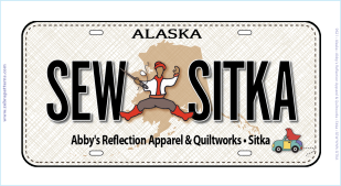 SEW SITKA RXR BLK LICENSE PLATE
