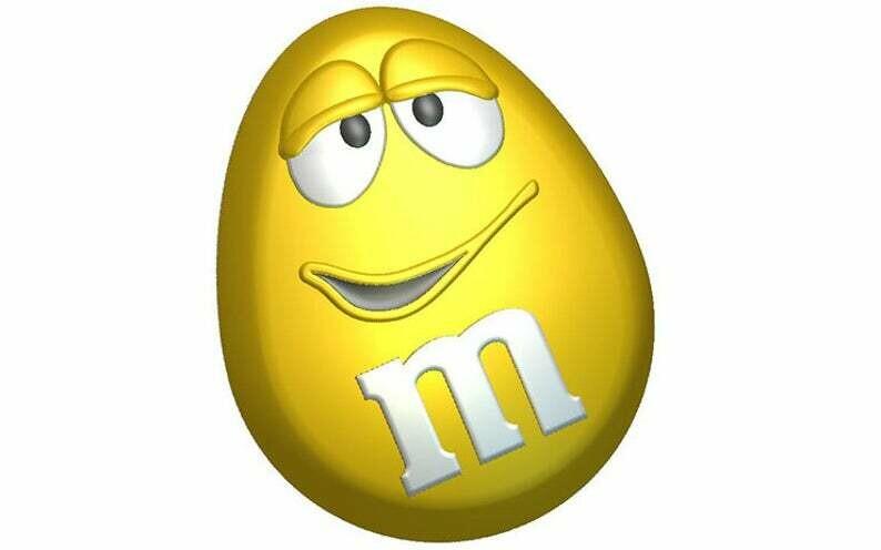 Yellow M&M Mold
