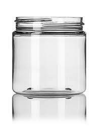 8oz Clear Tall Jars w/lids