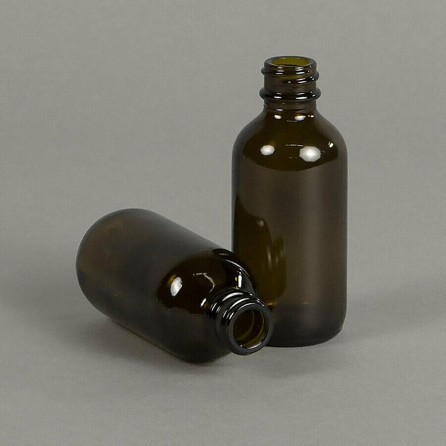 2oz Glass Amber Dropper Bottles