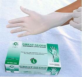 Latex Gloves Disposable Powder Free