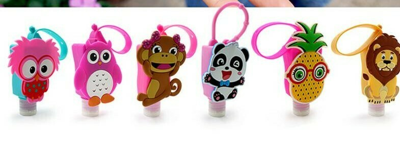 30ML Character Dispensing Bottles w/ Silicone Hanging Loop