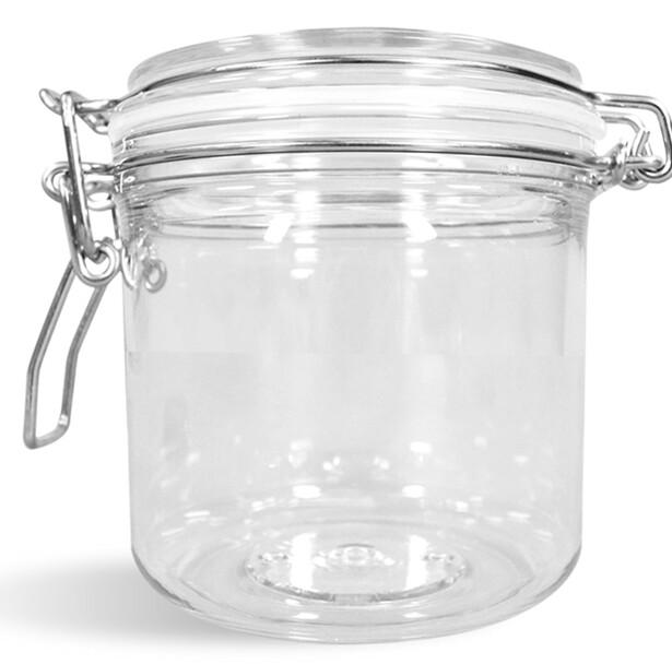 8oz Tall Plastic Bail Jars