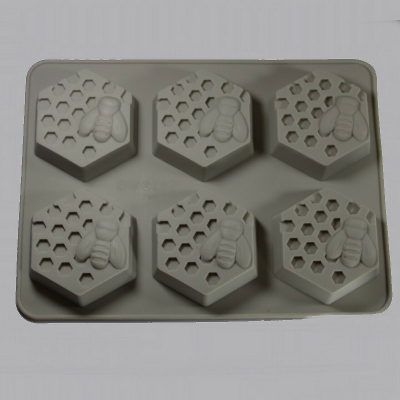 6 Cavity Honeycomb Bee Mold Silicone