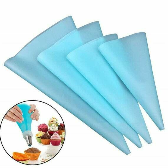 4 Piece Reusable Piping Bags S, M, L, and XL