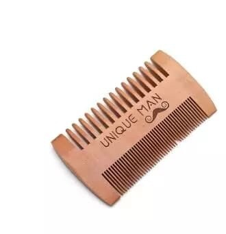 Natural Wood Mens Beard Comb