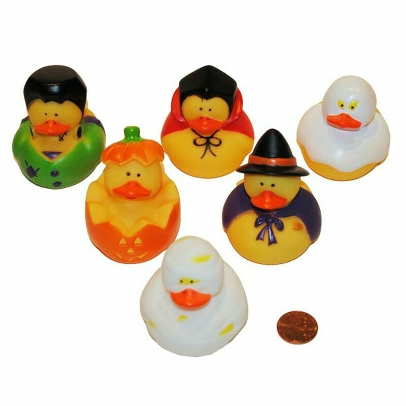 6 Halloween Duckies