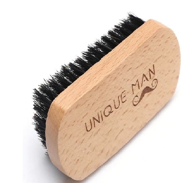 Natural Wood Mens Beard Brush