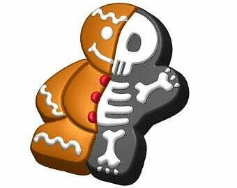 Gingerbread Skelly Mold
