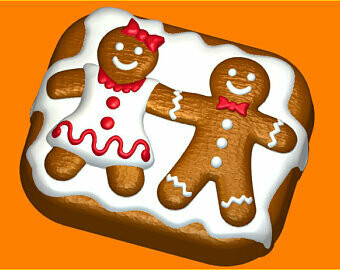 Gingerbread Family Mold