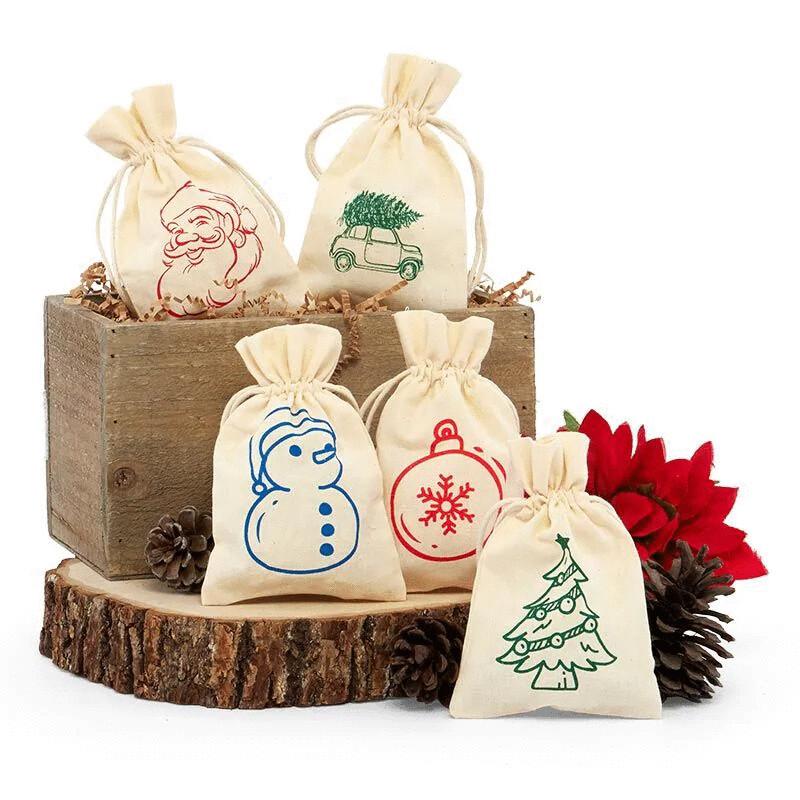 4x6 Holiday Muslin Bags