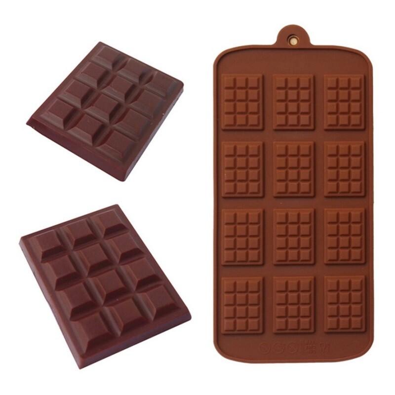 12 Cavity Chocolate Bar Silicone Mold