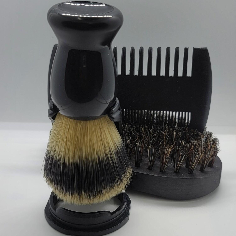 4 Piece Black Shave Kit