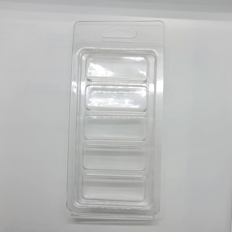 5 Cavity Clear Snapbar Clamshells