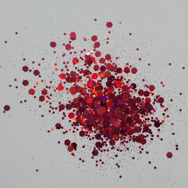 Chunky Forbidden Apple Red Glitter