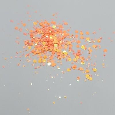 Chunky Amazon Orange Glitter