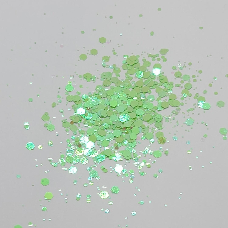 Chunky Lime Head Glitter