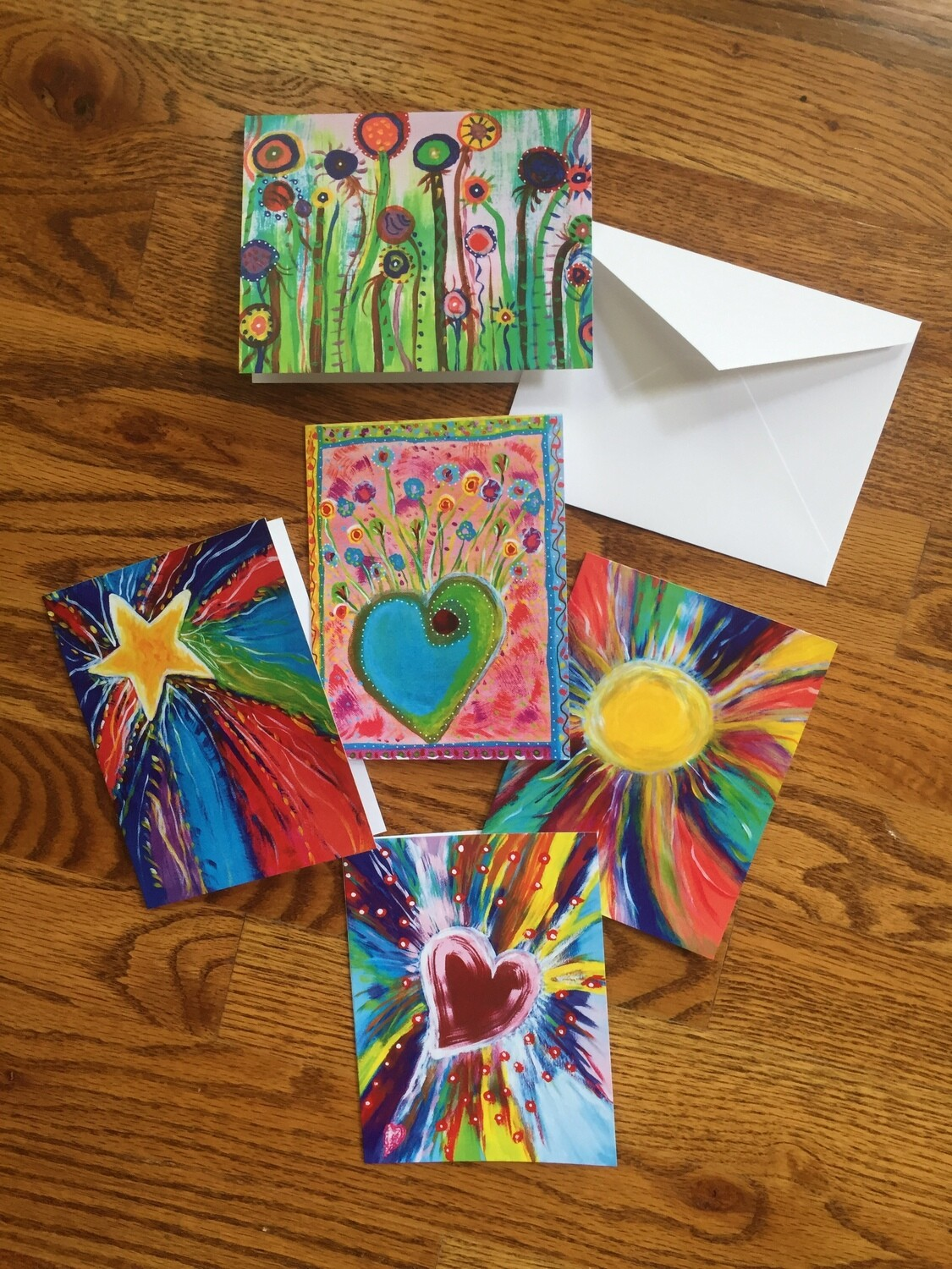 Whimsical Colorful Notecards
