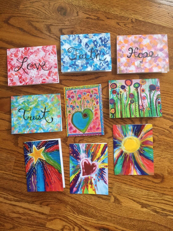 Full Set of Fun Colorful Notecards