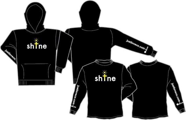 SHINE black long sleeve shirts