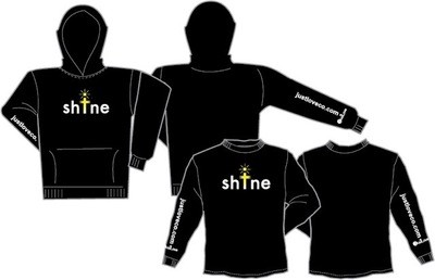 SHINE black long sleeve shirts