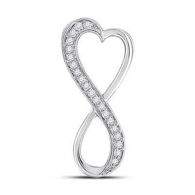 0.10Ctw Silver Infinity Diamond Pendant