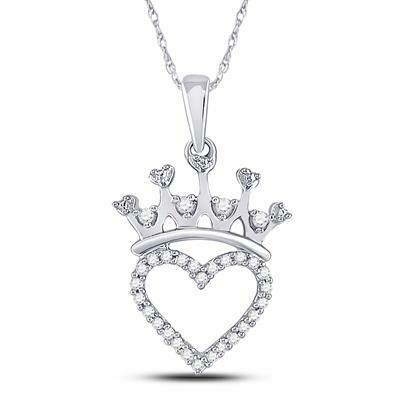 0.10Ctw Silver Tiara Pendant