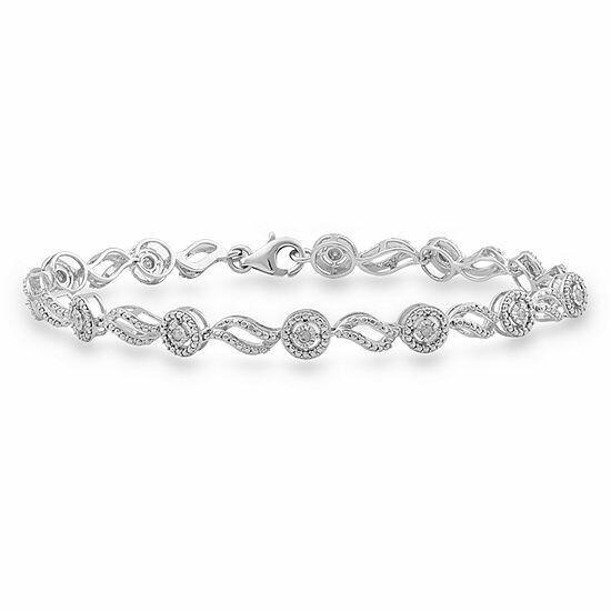 0.25Ctw Silver Diamond Bracelet