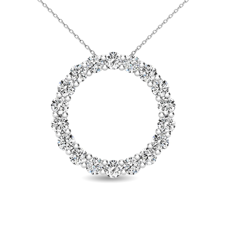 0.40Ctw Diamond Circle Pendant
